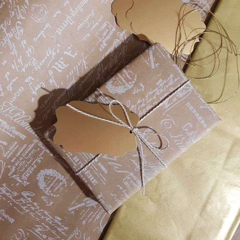 Legami My Notebook wrapped in Vintage Brown Gift Wrap