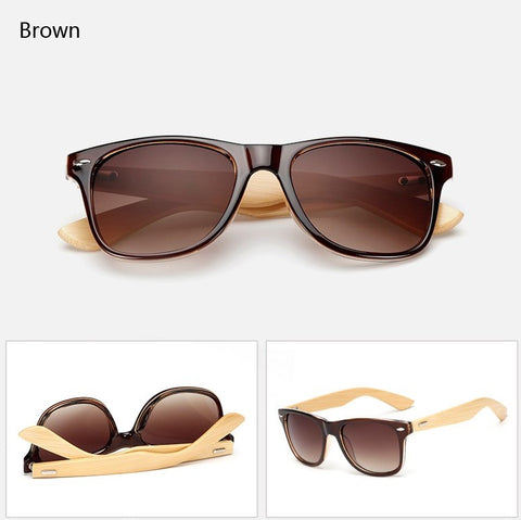 Gift Journal #11 Ralferty Wood Sunglasses - Retro Brown