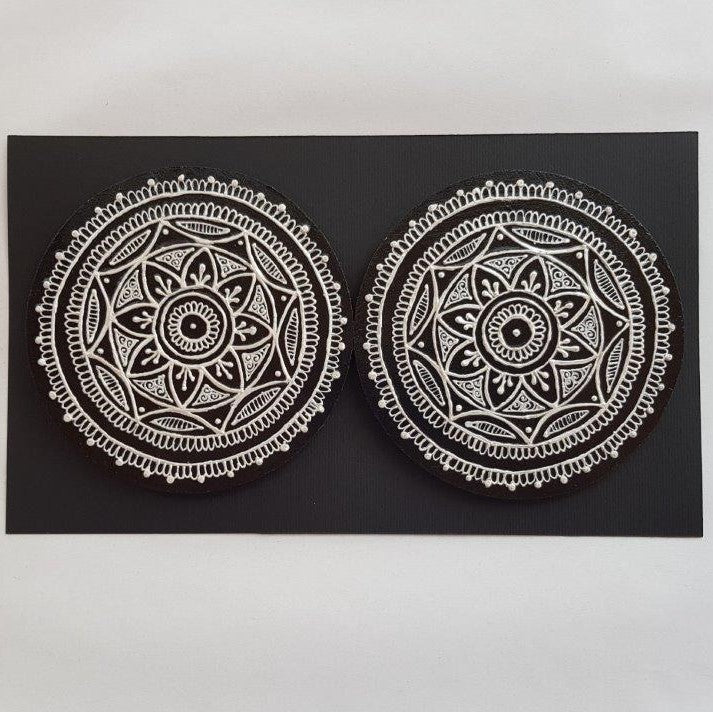 Mehndi-Inspired Coasters