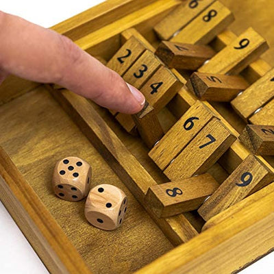Professor Puzzle | Shut The Box Puzzle | Unique Gift Ideas for Her | for Mom | for Women | for Females | for Wife | for Sister | for Girlfriend | for Grandma | for Friends | for Birthday | Gifting Made Simple | Unique Gift Ideas for Him | for Dad | for Men | for Males | for Husband | for Brother | for Boyfriend | for Grandad