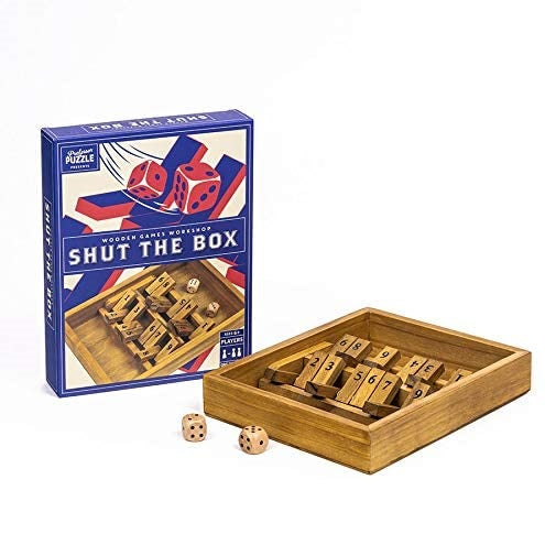 Professor Puzzle | Shut The Box Puzzle Box | Unique Gift Ideas for Her | for Mom | for Women | for Females | for Wife | for Sister | for Girlfriend | for Grandma | for Friends | for Birthday | Gifting Made Simple | Unique Gift Ideas for Him | for Dad | for Men | for Males | for Husband | for Brother | for Boyfriend | for Grandad