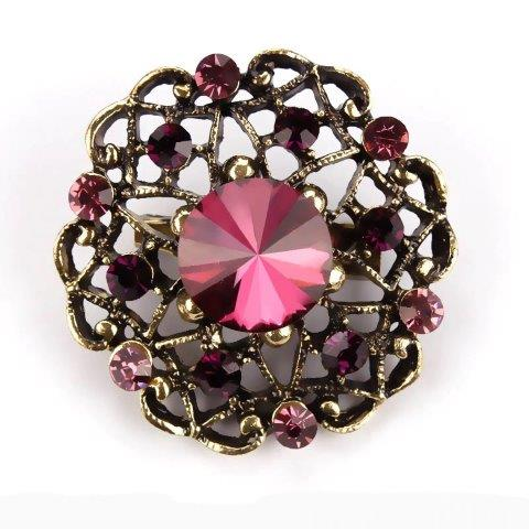 Brooch - Maroon Gold Blossom Gift Ideas, Gifts, Gifting Made Simple