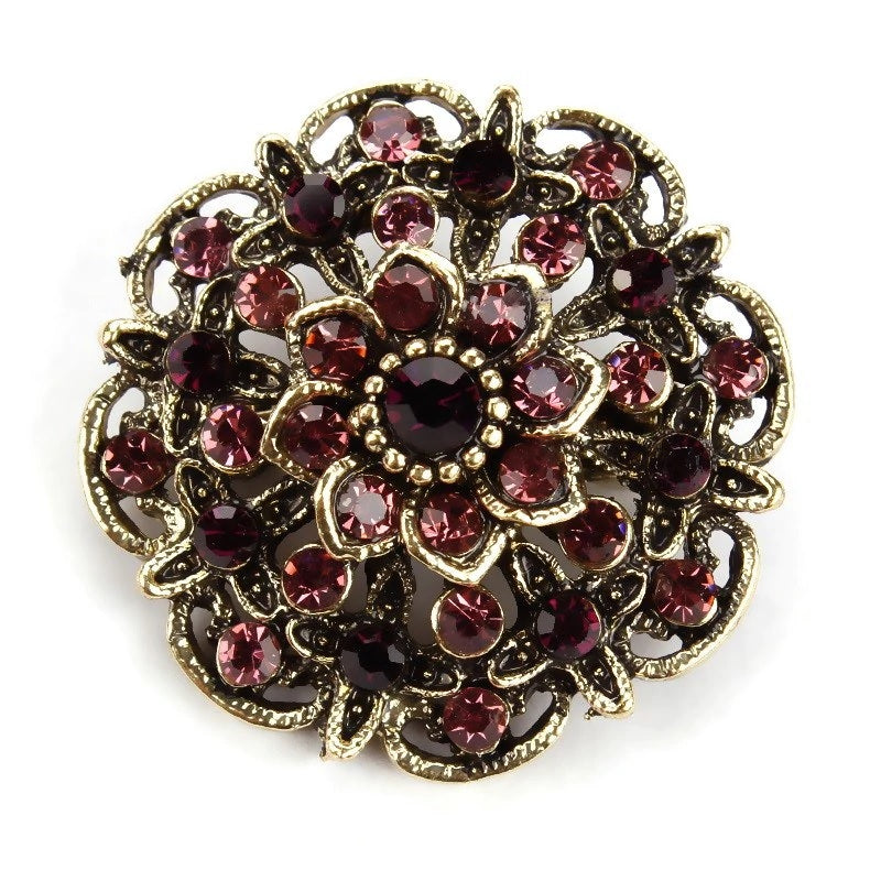 Brooch - Mauve Gold Blossom Gift Ideas, Gifts, Gifting Made Simple