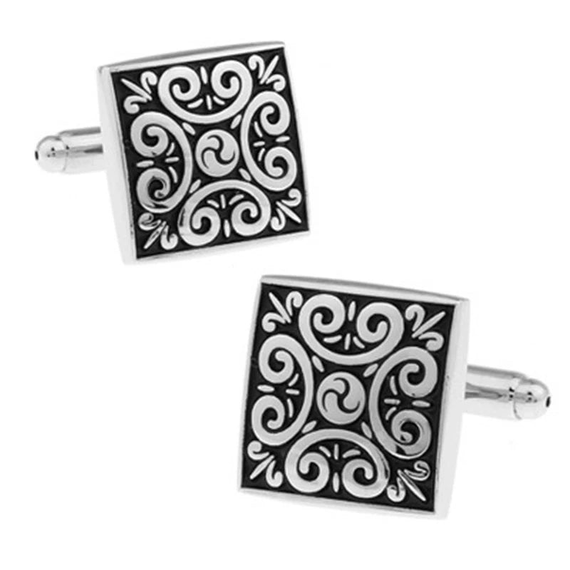 Cufflinks - Square Leaf Black Gifts Gift Ideas Gifting Made Simple