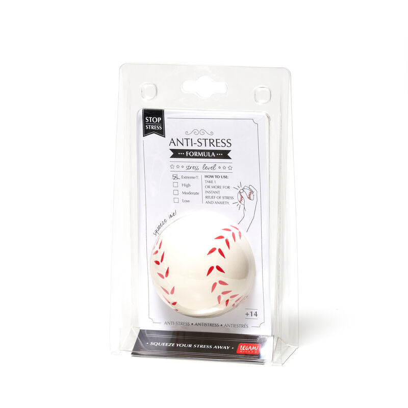 Legami Anti Stress Ball | Baseball Package| Unique Gift Ideas for Her | for Mom | for Women | for Females | for Wife | for Sister | for Girlfriend | for Grandma | for Friends | for Birthday | Gifting Made Simple | Unique Gift Ideas for Him | for Dad | for Men | for Males | for Husband | for Brother | for Boyfriend | for Grandad