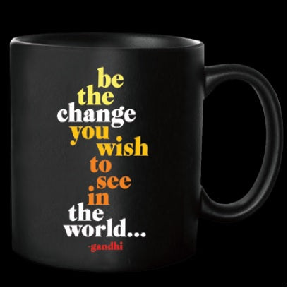Quotable Be The Change Mug Gift ideas Gifting Gift shop