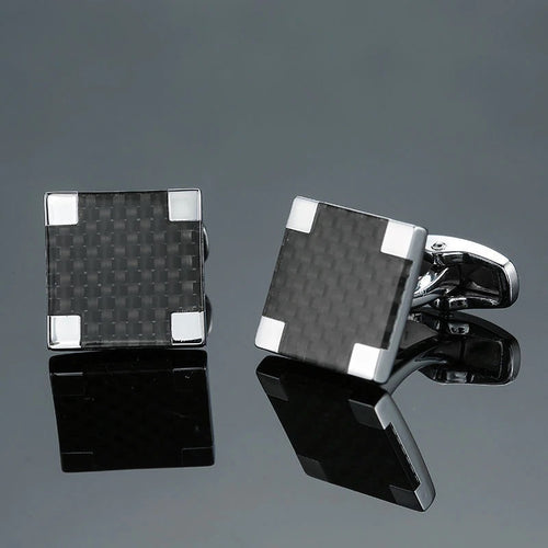 Cufflinks South Africa | Classic | Carbon Fibre 4SQ | Unique Gift Ideas for Him | for Dad | for Men | for Males | for Husband | for Brother | for Boyfriend | for Grandad | for Friends | for Birthday | Gifting Made Simple