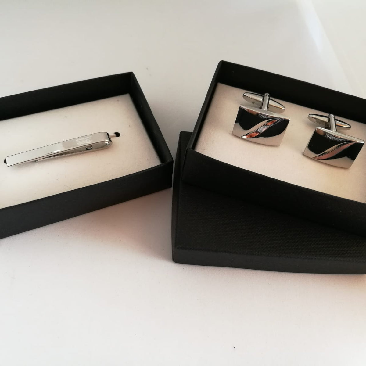 Cufflink and Tie Clip pair