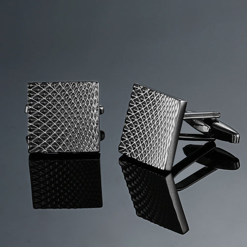 Cufflinks - Striped Square Design - Best Man Gift
