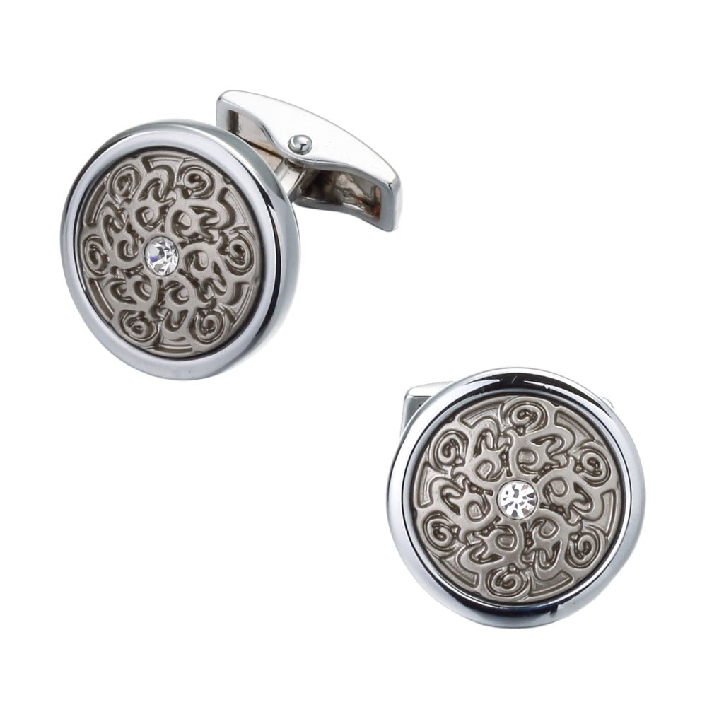 Cufflinks South Africa | Classic | Round Laser Engraved Design | Unique Gift Ideas for Him | for Dad | for Men | for Males | for Husband | for Brother | for Boyfriend | for Grandad | for Friends | for Birthday | Gifting Made Simple