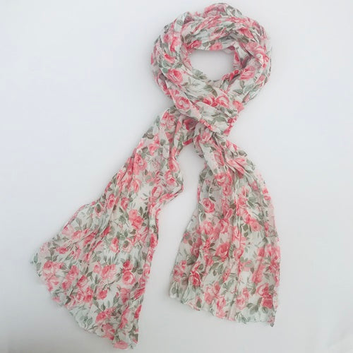 Metallic Mermaid | Floral Scarf - Pink & green | Gift Ideas For Her | Gifting Made Simple