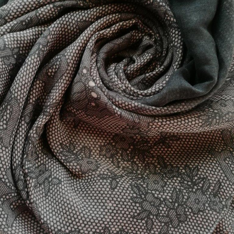 Charcoal scarf with floral lace print Gifts Gift Ideas Gifting Made Simple