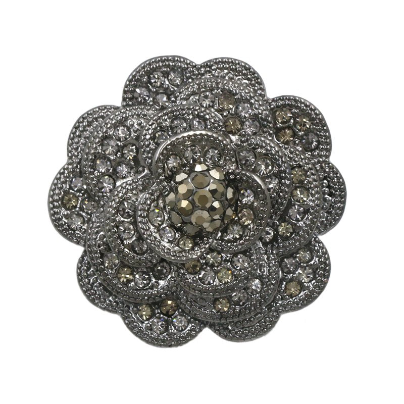 Brooch - Sparkle Grey Blossom Gift Ideas, Gifts, Gifting Made Simple