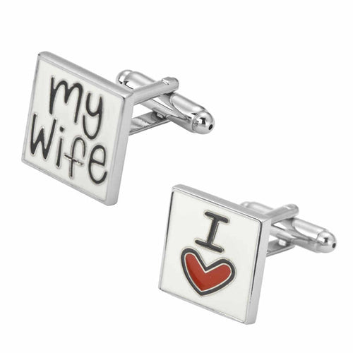 Cufflinks South Africa | Novelty | I Love My Wife | Unique Gift Ideas for Him | for Dad | for Men | for Males | for Husband | for Brother | for Boyfriend | for Grandad | for Friends | for Birthday | Gifting Made Simple