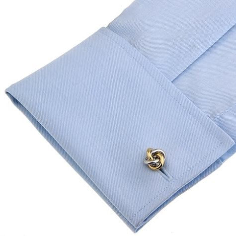 knotted cufflinks silver and gold sleeve gifts gift ideas gifting made simple