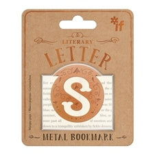 Literary Letter Brass Bookmarks