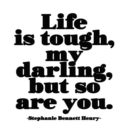 Quotable Life Is Tough Card Gift ideas Gifting Gift shop