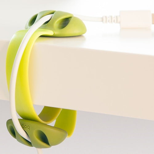 Bobino Desk Cable Clip | Lime | Desk Gadgets | Unique Gift Ideas for Him | for Dad | for Men | for Males | for Husband | for Brother | for Boyfriend | for Grandad | for Friends | for Birthday | Gifting Made Simple
