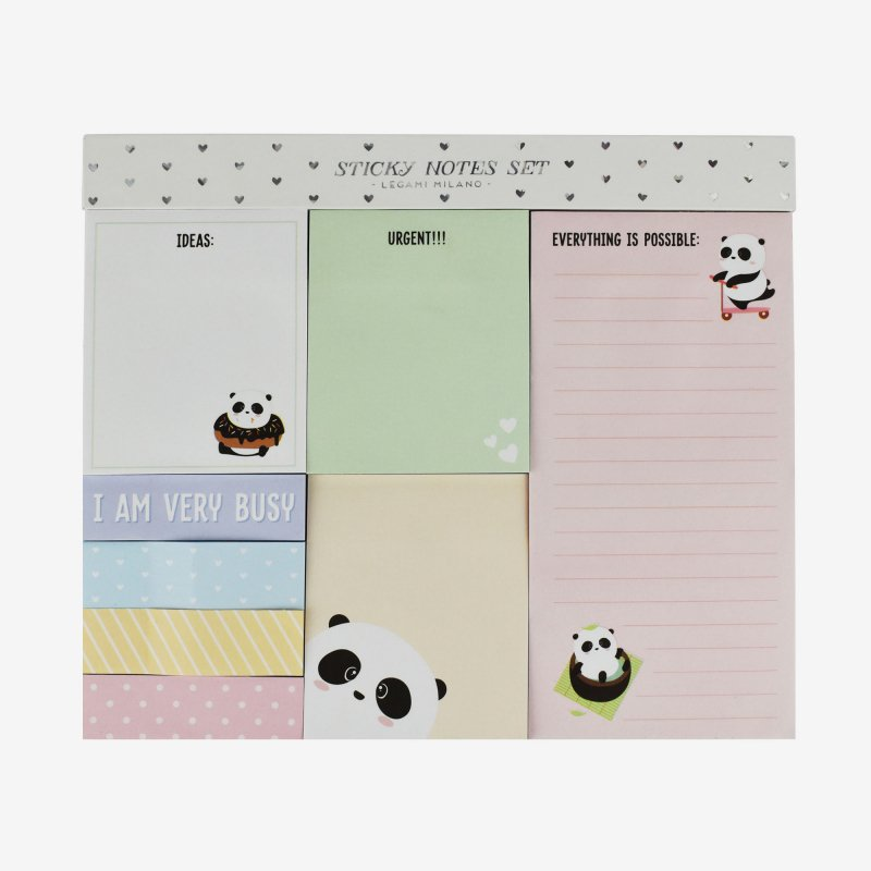 legami sticky note set panda gifts gift ideas gifting made simple