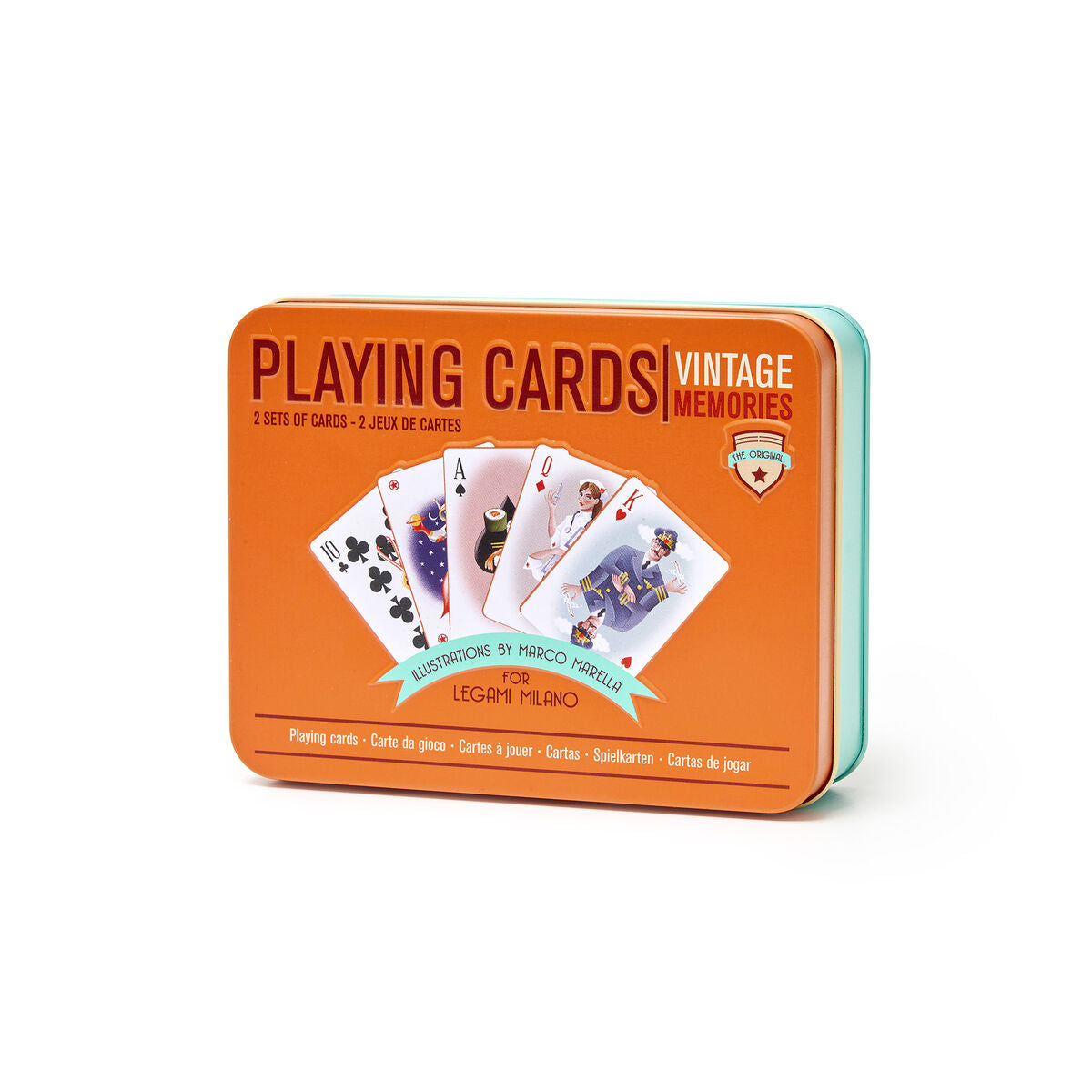 Legami Playing Cards Box | Vintage Memories | Gift Ideas For Him | For Brother | For Men | For Husband | Gifting Made Simple