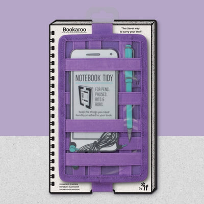 IF Bookaroo Notebook Tidy | Purple | Unique Gift Ideas for Her | for Mom | for Women | for Females | for Wife | for Sister | for Girlfriend | for Grandma | for Friends | for Birthday | Gifting Made Simple