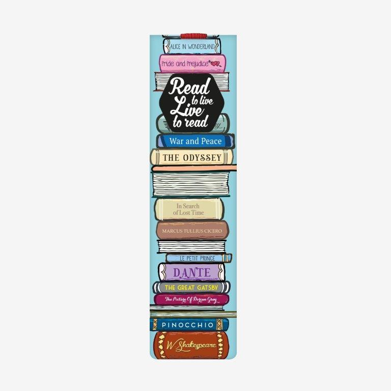 Legami Bookmark - Read to Live - Gifts Gift Ideas Gifting Made Simple