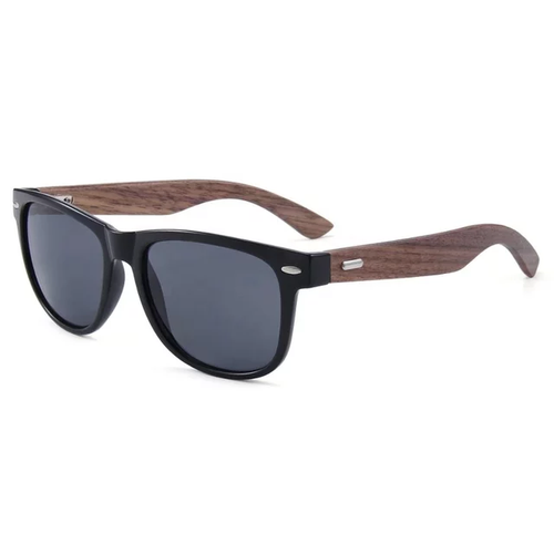 Ralferty Wood Sunglasses | Retro Black | Cover | Gift Ideas For Him | For Men | For Boyfriend | For Dad | For Husband