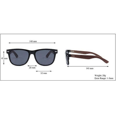 Ralferty Wood Sunglasses | Retro Brown | Size | Gift Ideas For Him | For Men | For Boyfriend | For Dad | For Husband