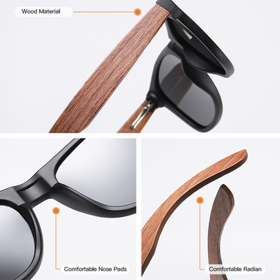 GM Wood Sunglasses - Retro Brown