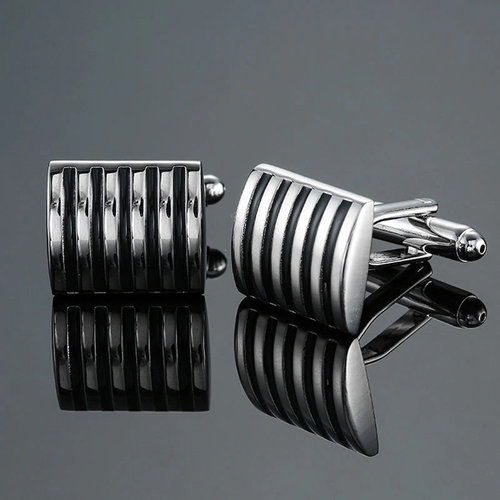 Cufflinks Striped Curve Design Best Man Gift Idea