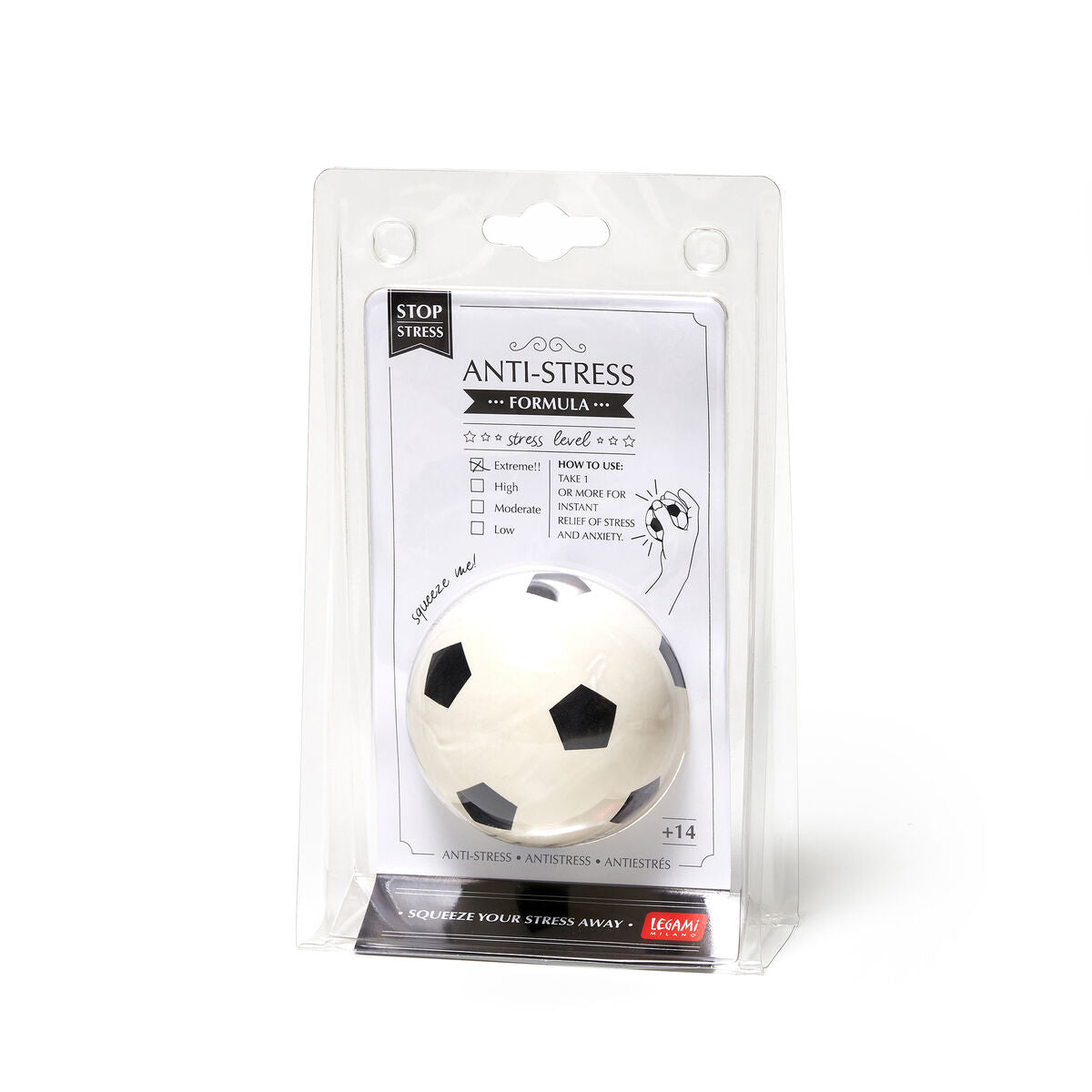 Legami Anti Stress Ball | Soccer Package | Unique Gift Ideas for Her | for Mom | for Women | for Females | for Wife | for Sister | for Girlfriend | for Grandma | for Friends | for Birthday | Gifting Made Simple | Unique Gift Ideas for Him | for Dad | for Men | for Males | for Husband | for Brother | for Boyfriend | for Grandad