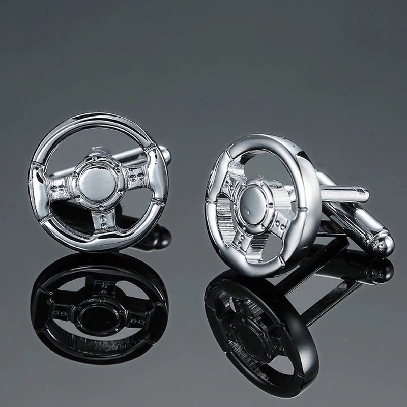 Cufflinks South Africa | Novelty | Car Steering Wheel Design | Unique Gift Ideas for Him | for Dad | for Men | for Males | for Husband | for Brother | for Boyfriend | for Grandad | for Friends | for Birthday | Gifting Made Simple