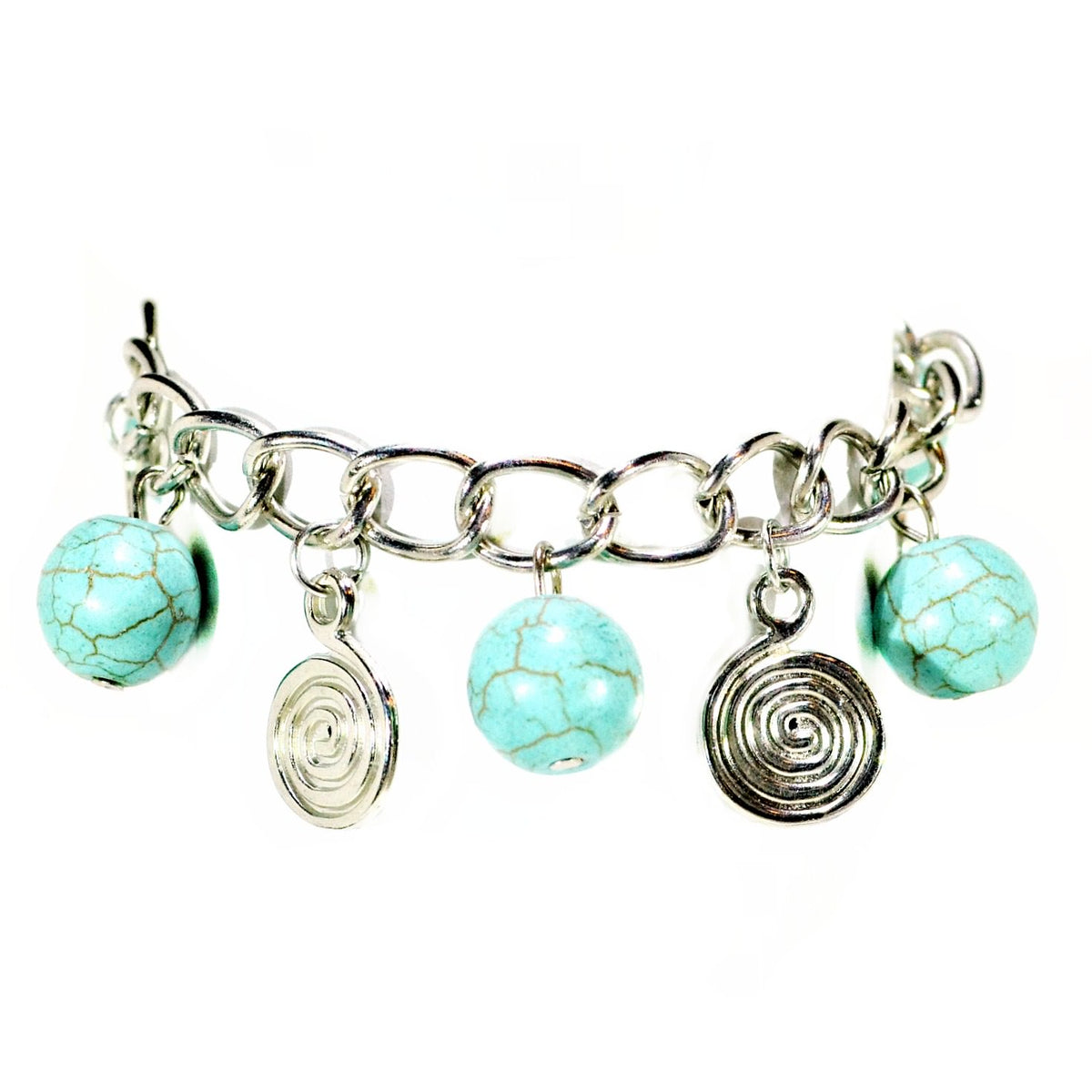 metallic mermaid turquoise marble ball bracelet gifts gift ideas gifting made simple