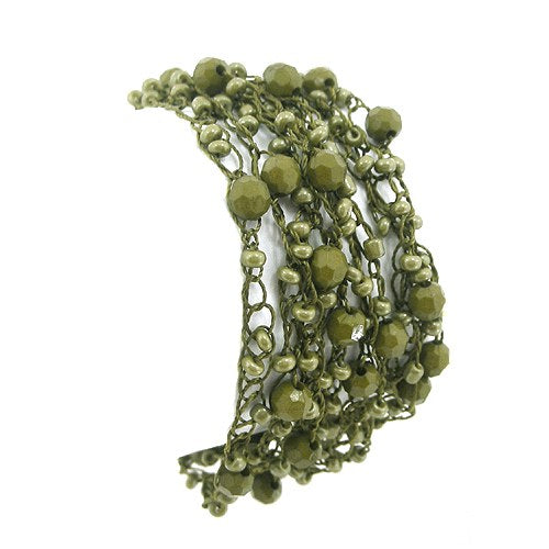 metallic mermaid olive green bracelet gifts gift ideas gifting made simple