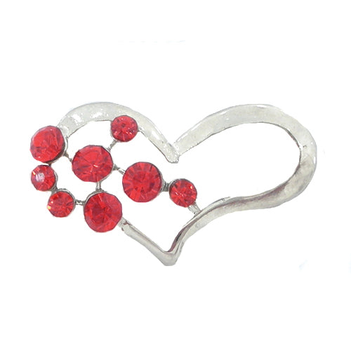 Metallic Mermaid Silver & Red Heart Brooch Gifts Gift Ideas Gifting Made Simple