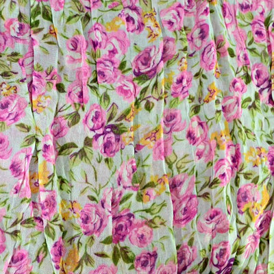 Floral Scarf - Green, pink & orange