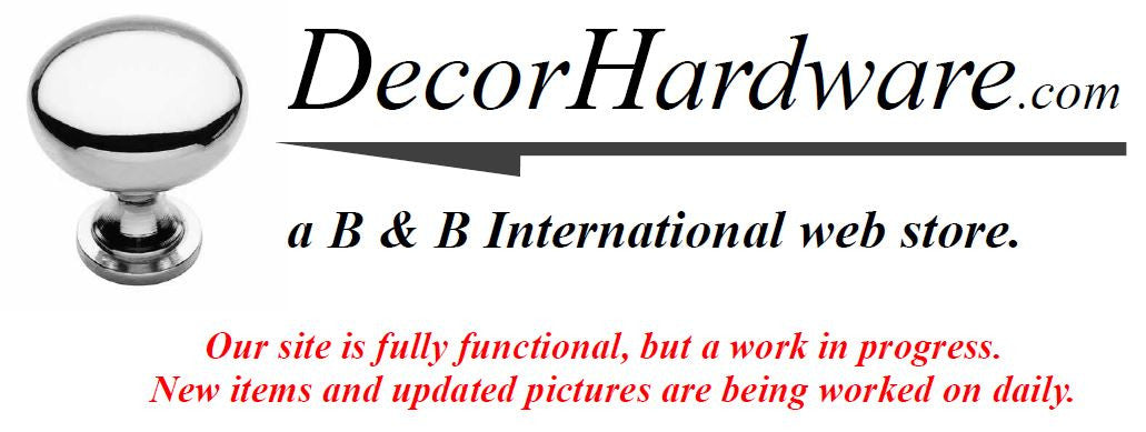 DecorHardware.com for cabinet knobs and pulls and other specialty builders hardware.