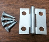 "1"" X 1"" Utility Hinge - Zinc Plated Steel - Bulk Pack - (PAIR)"