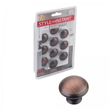 "10-Pack of 1-3/16"" Diameter Cabinet Knobs. Packaged with ten 8"