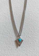 Load image into Gallery viewer, Silver and Turquoise Arrowhead Necklace