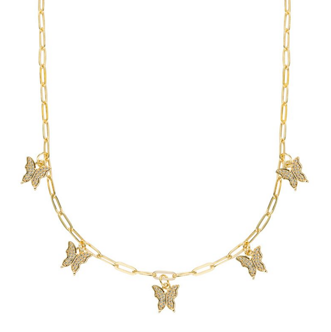 Gold Papillion Necklace