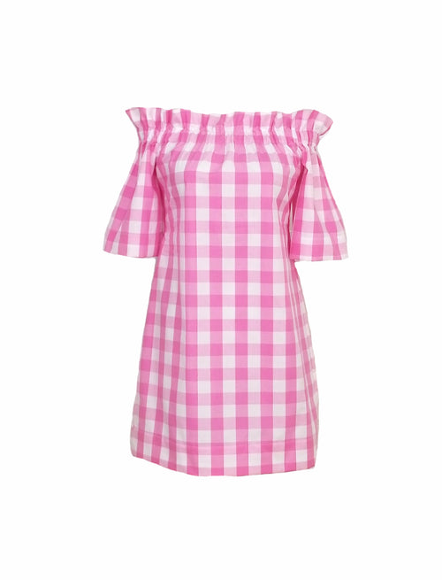 "The Derby Dress in Pink 1"" gingham"