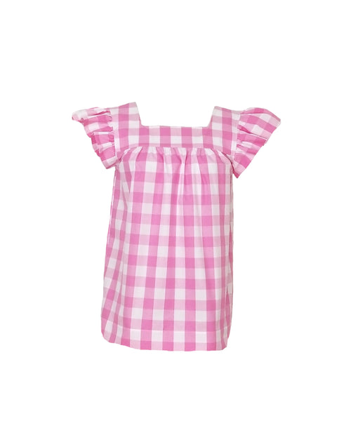 "The Low Country Top in Pink 1"" gingham"
