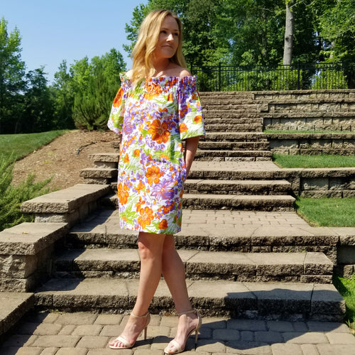 The Derby Dress in Orange Crush