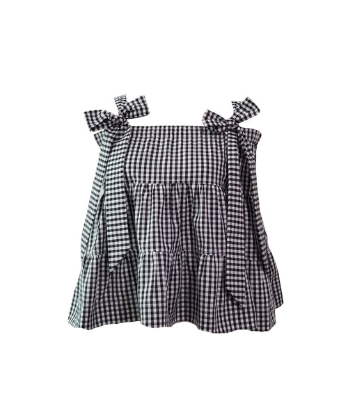 The Florence Top in Black gingham