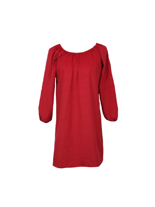 The Hampton Dress in Red Corduroy