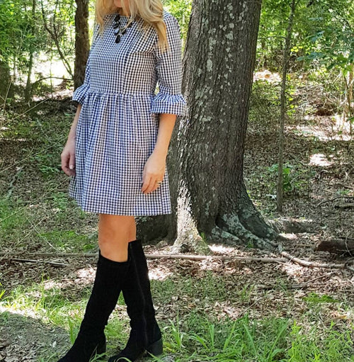 The Carolina dress in black gingham
