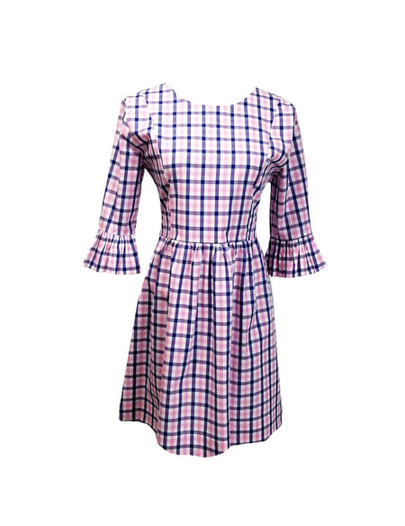 The Derby Dress in Pink gingham seersucker