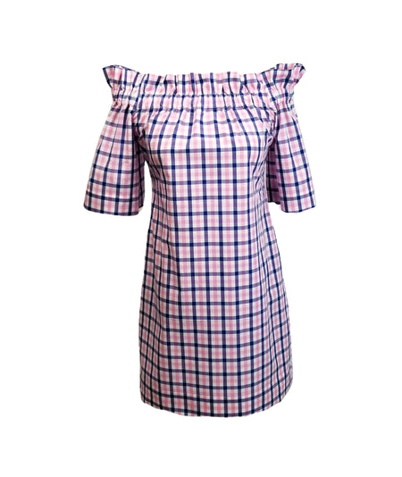 "The Carolina Dress in Hot Pink 1"" gingham"
