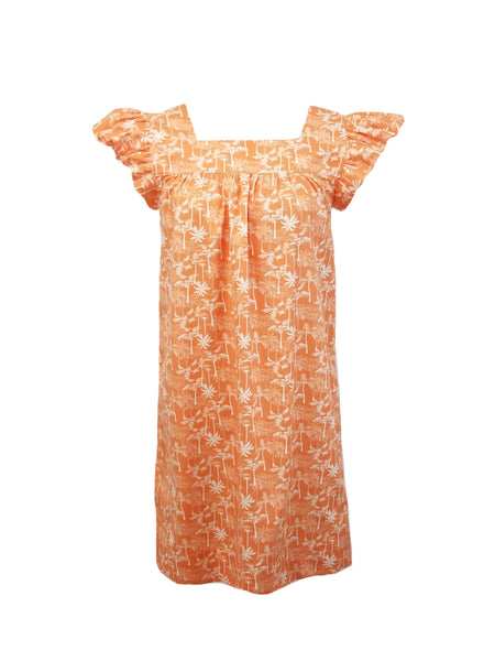 The Low Country Dress in Coral Palms